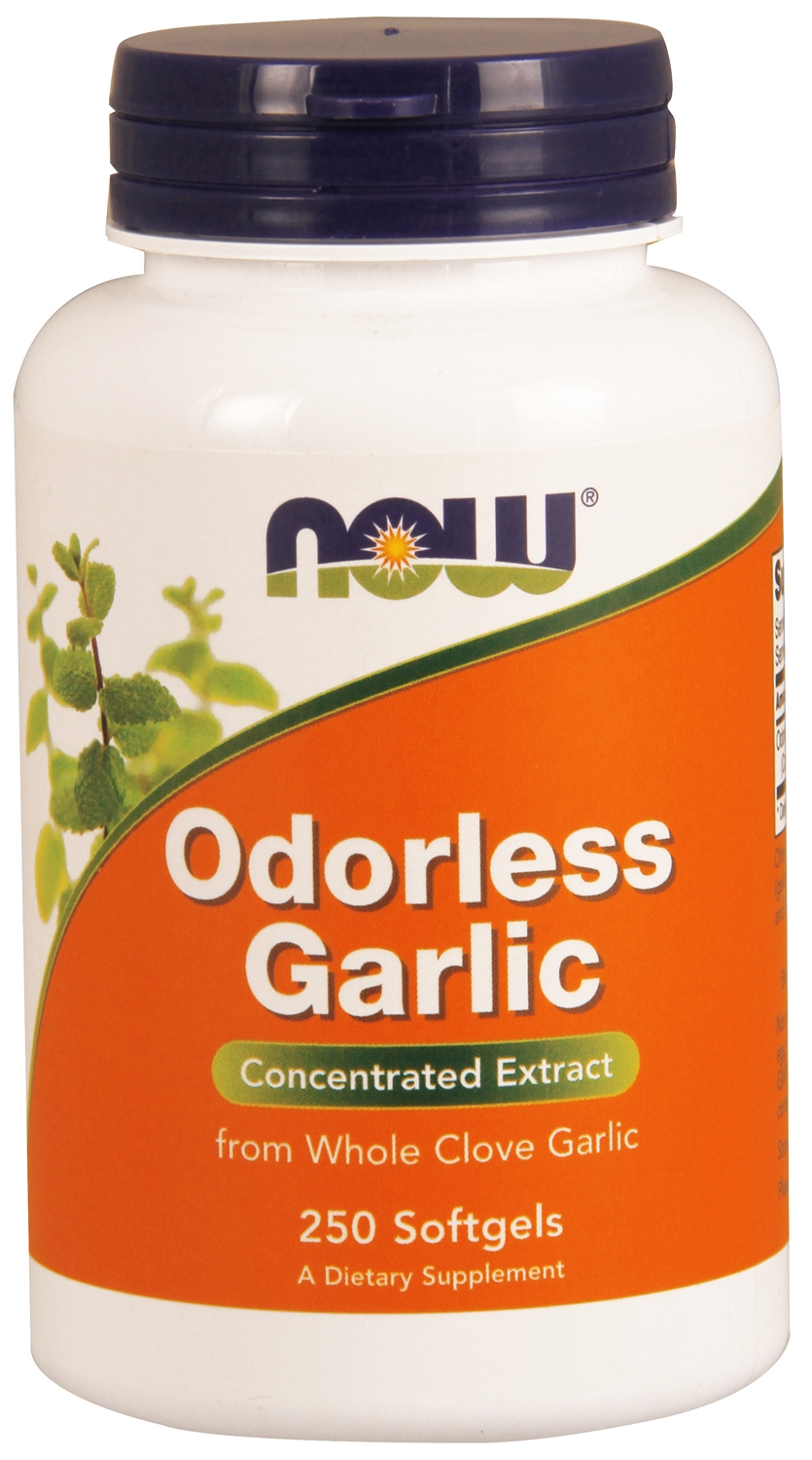 Odorless Garlic Concentrated Extract 250 sgels by NOW
