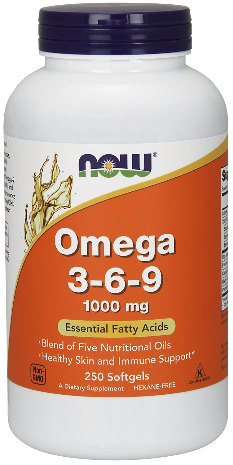 Omega 3-6-9 1000 mg 250 sgels by NOW