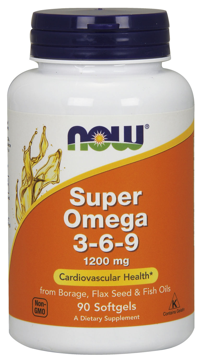 Super Omega 3-6-9 1200 mg 90 sgels by NOW