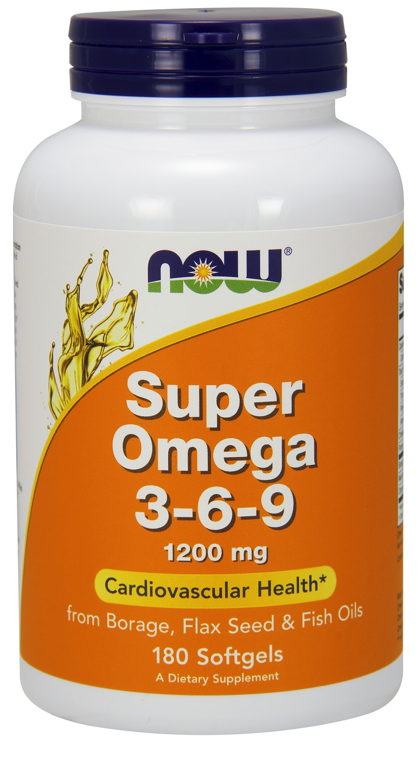 Super Omega 3-6-9 1200 mg 180 sgels by NOW