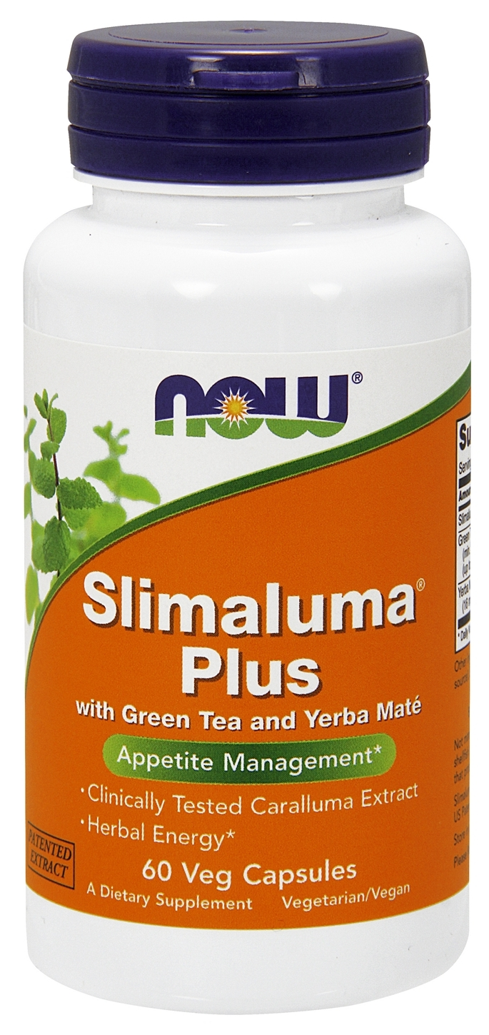Slimaluma Plus w/ Green Tea & Yerba Mate 60 Vcaps by NOW