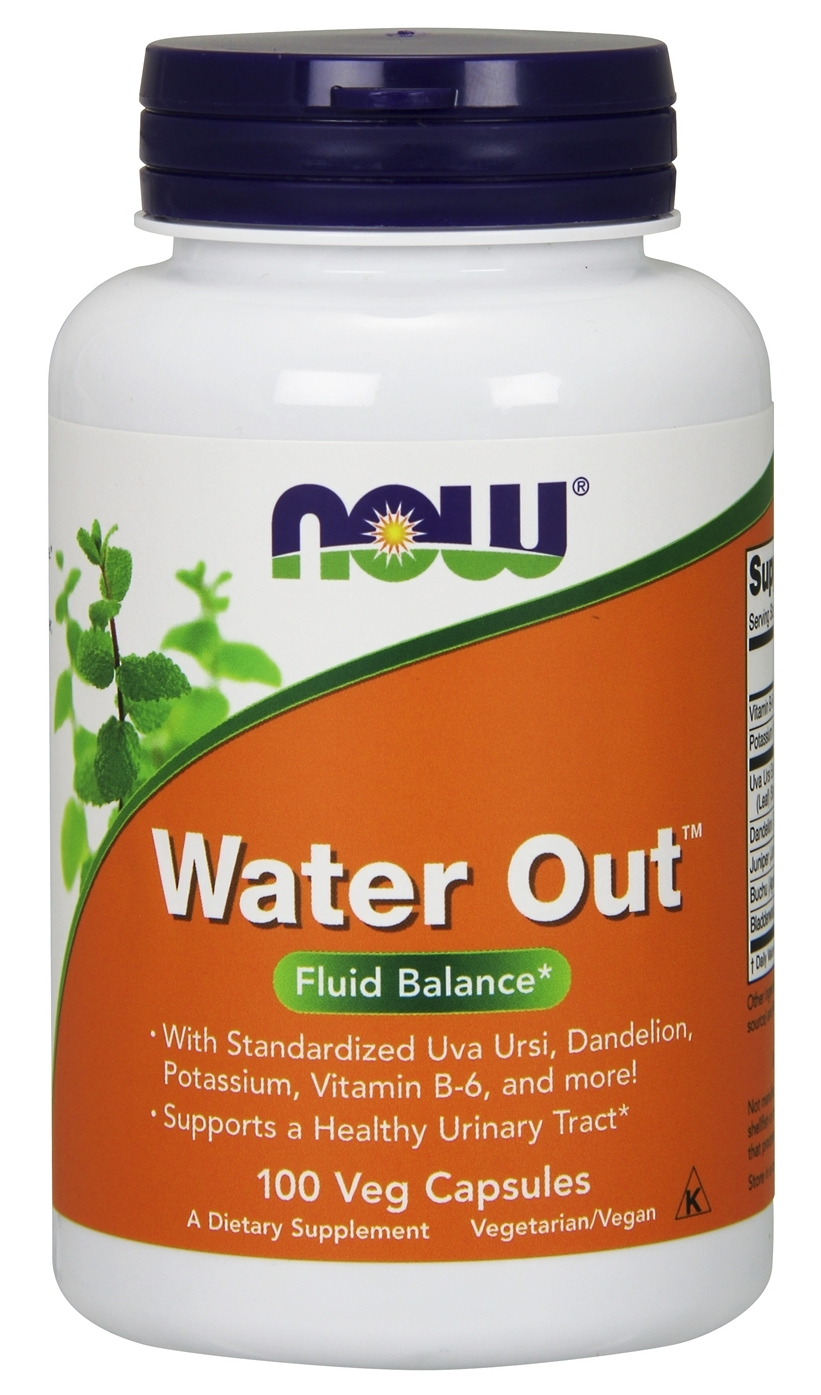 Water Out Herbal Diuretic 100 Vcaps by NOW