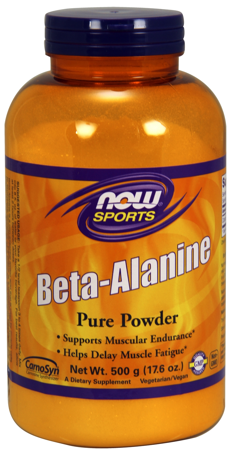 Beta-Alanine 100% Pure Powder 500 g (17.6 oz) by NOW