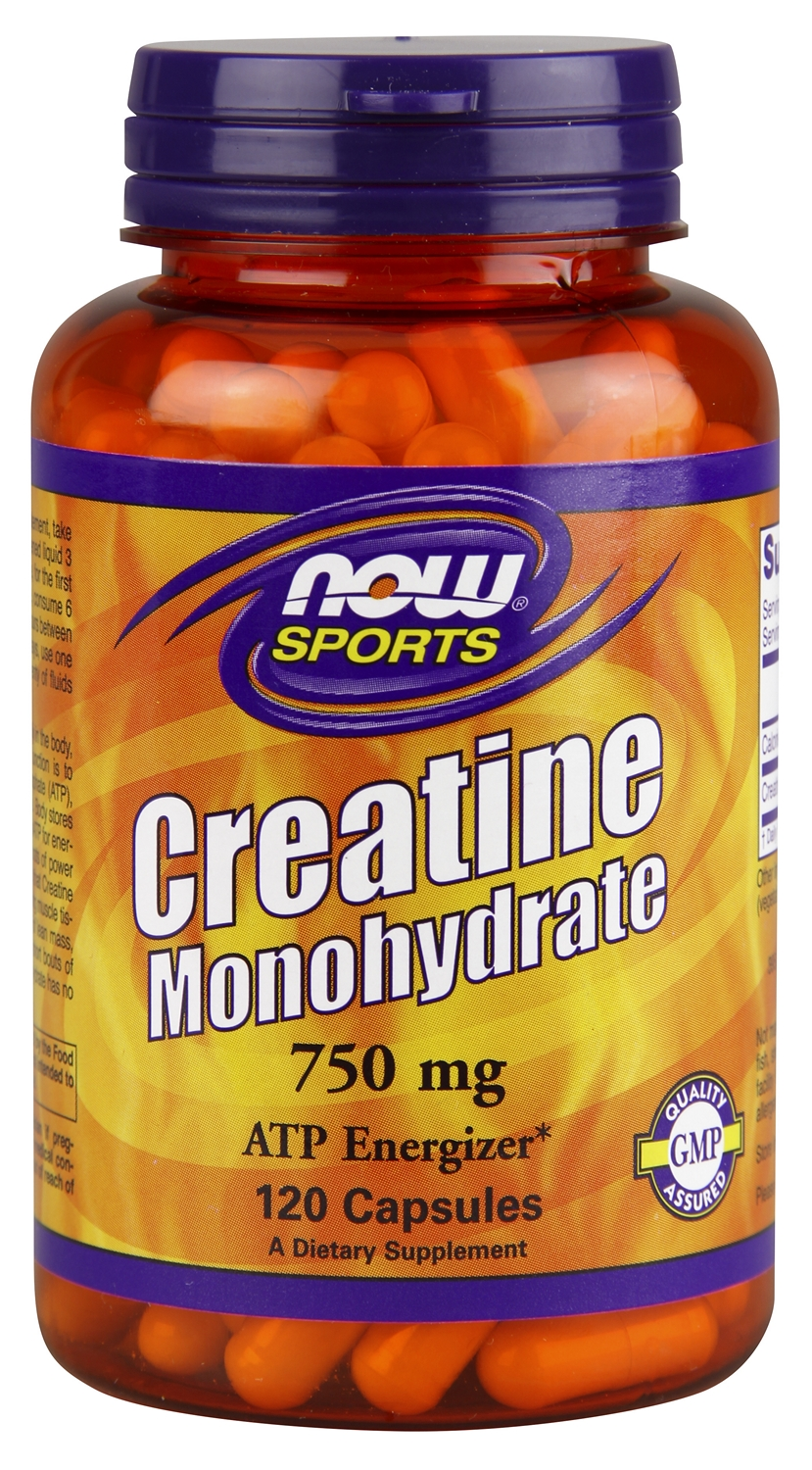 Creatine Monohydrate 750 mg 120 caps by NOW