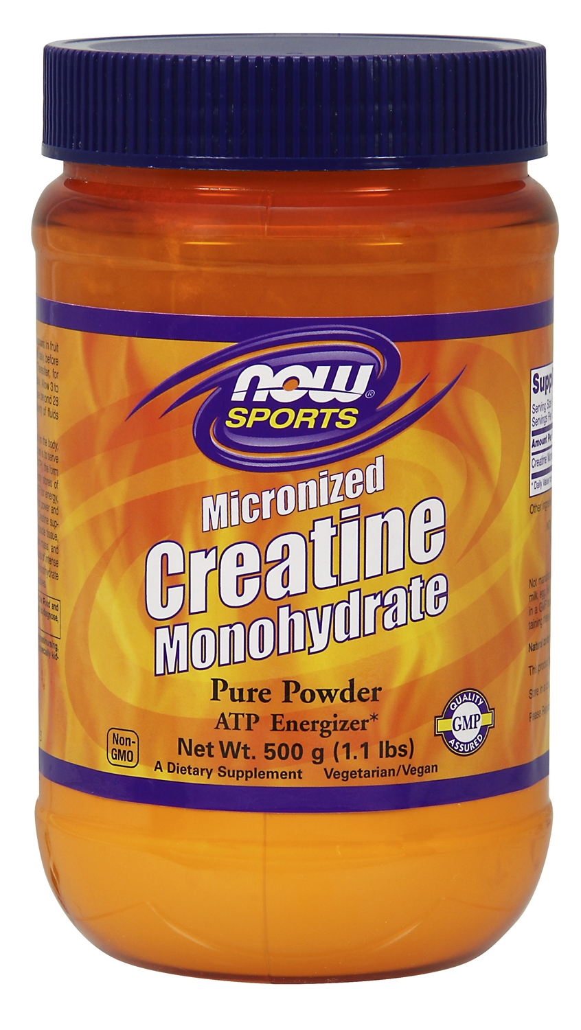Creatine Monohydrate Micronized 500 g (1.1 lbs) by NOW