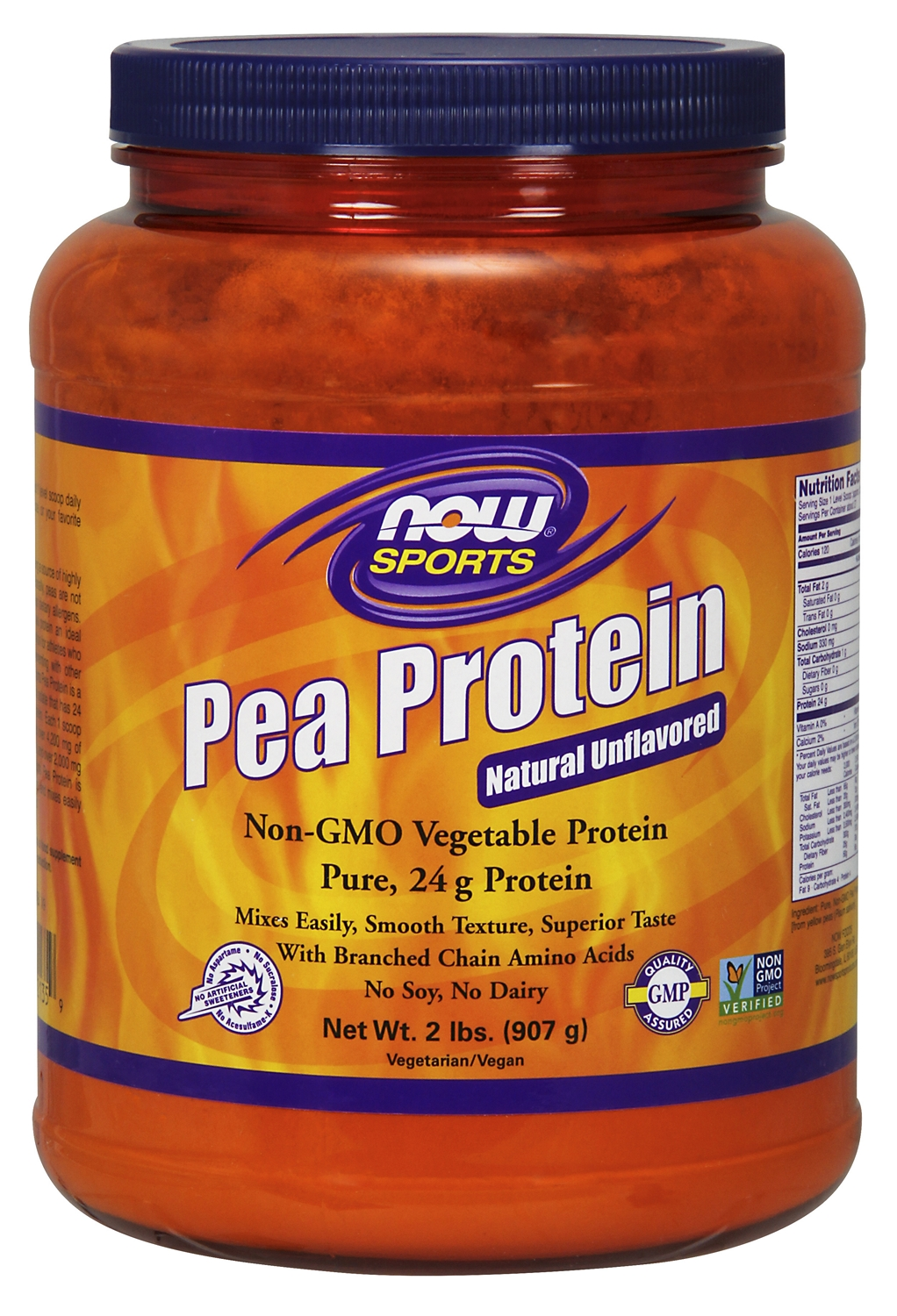 Pea Protein 2 lbs (907 g) by NOW