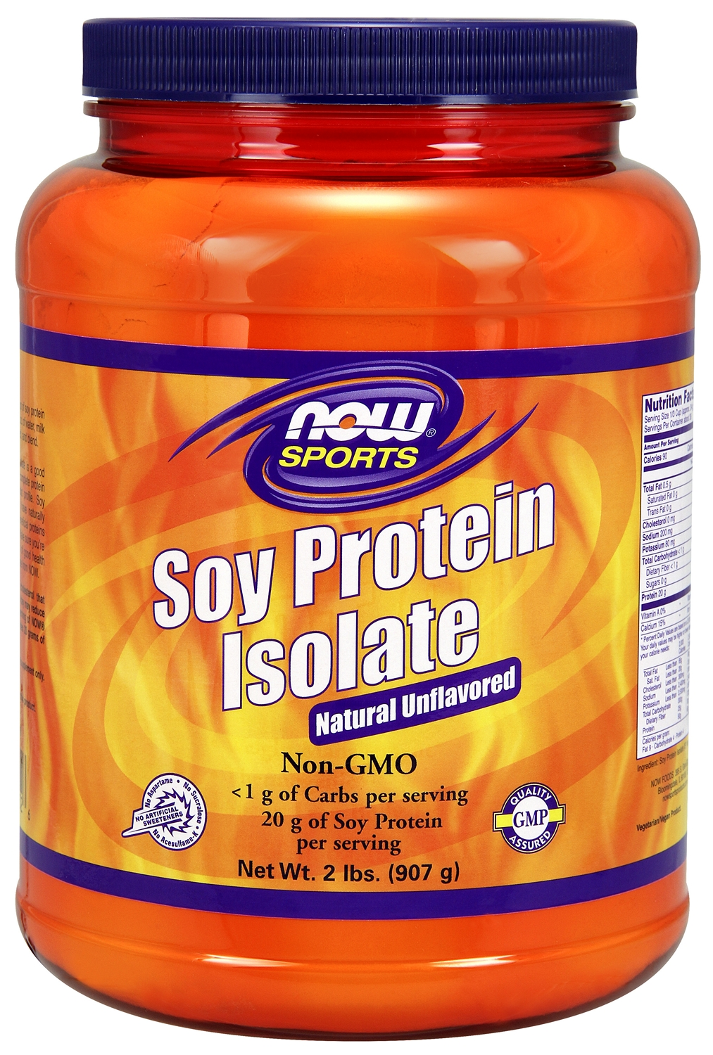 Soy Protein Isolate Unflavored 1 lb (454 g) by NOW