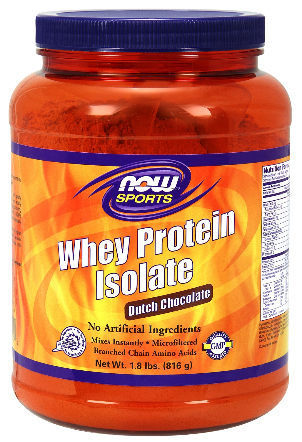 Whey Protein Isolate Dutch Chocolate 1.8 lbs (816 g) by NOW