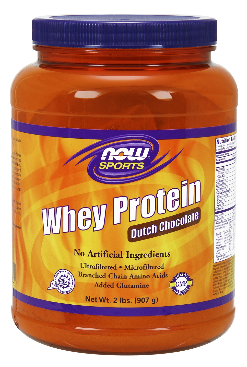 Whey Protein Dutch Chocolate 2 lbs (908 g) by NOW (expires 04/2015)