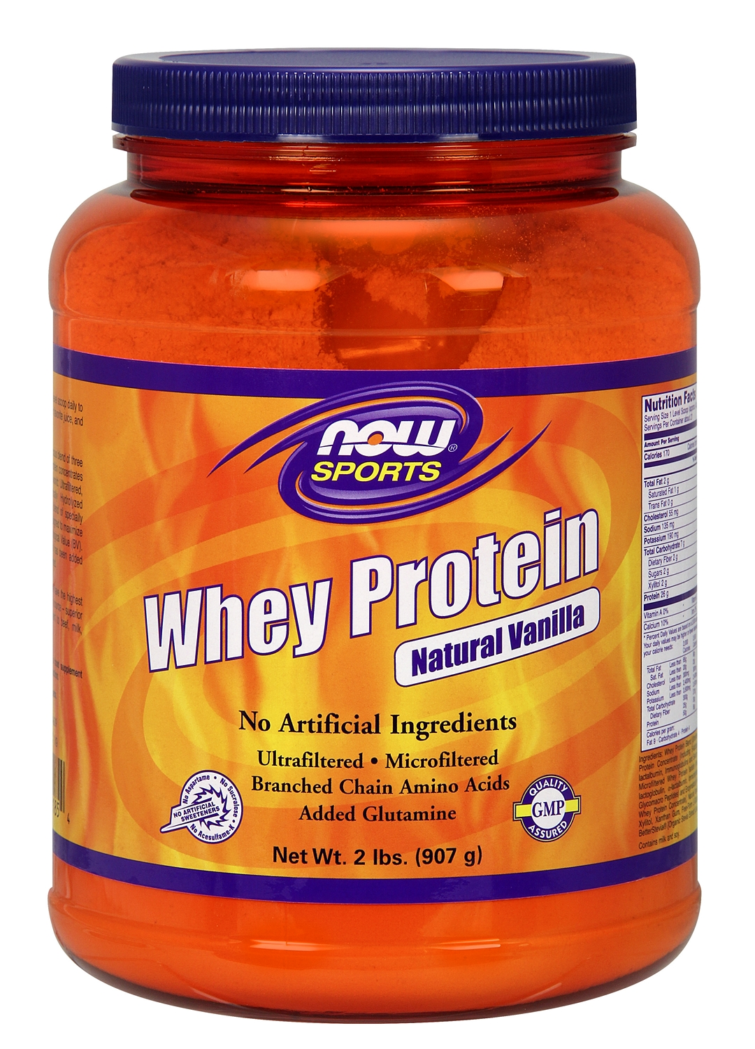 Whey Protein Natural Vanilla 2 lbs (908 g) by NOW