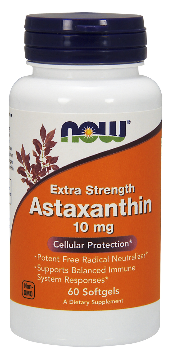 Astaxanthin Extra Strength 10 mg 60 sgels by NOW