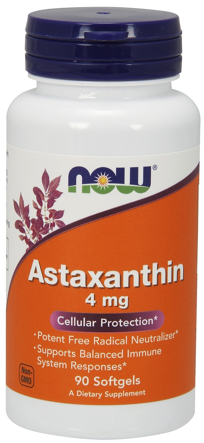 Astaxanthin 4 mg 90 sgels by NOW