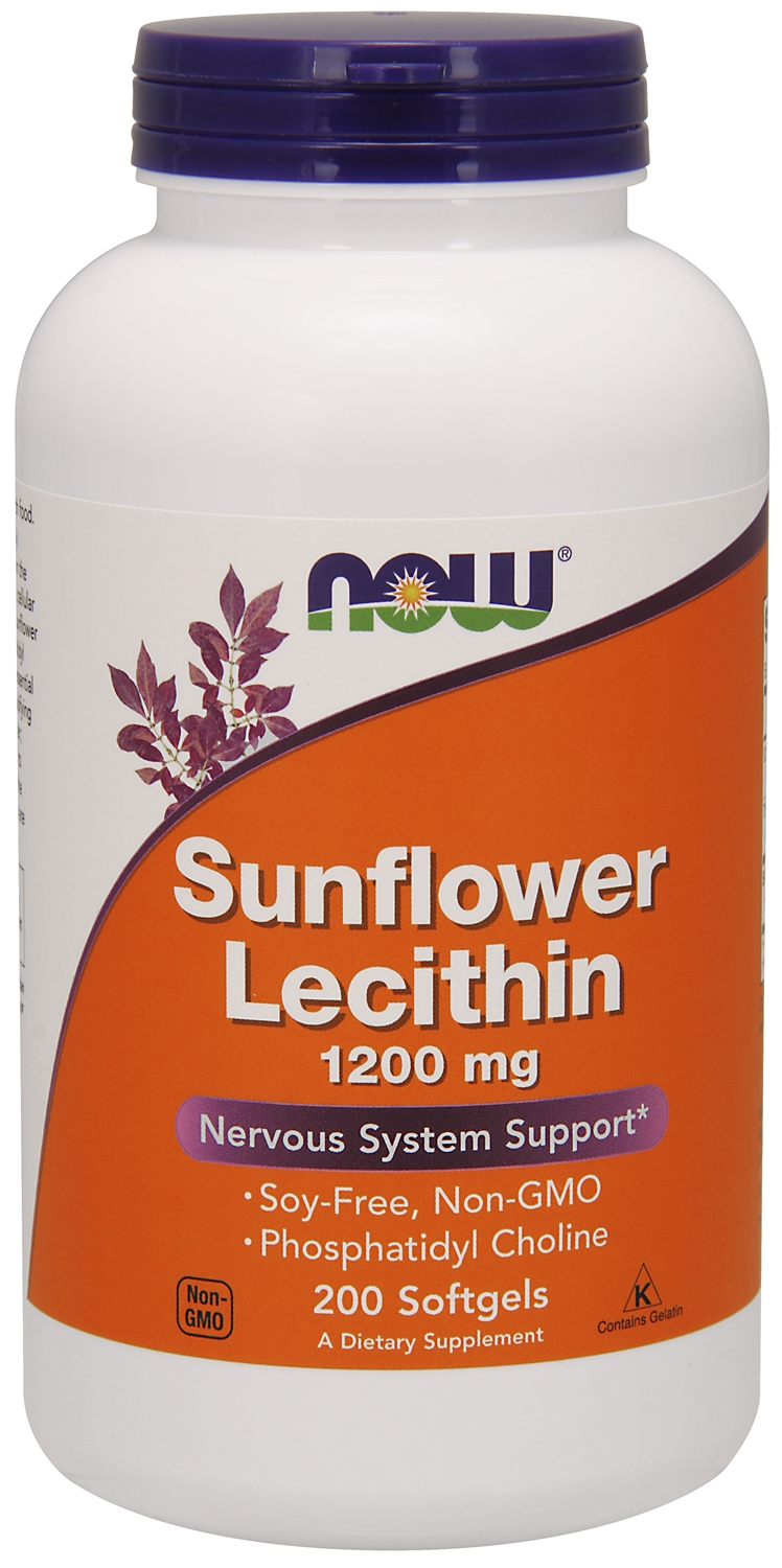 Sunflower Lecithin 1200 mg 200 sgels by NOW