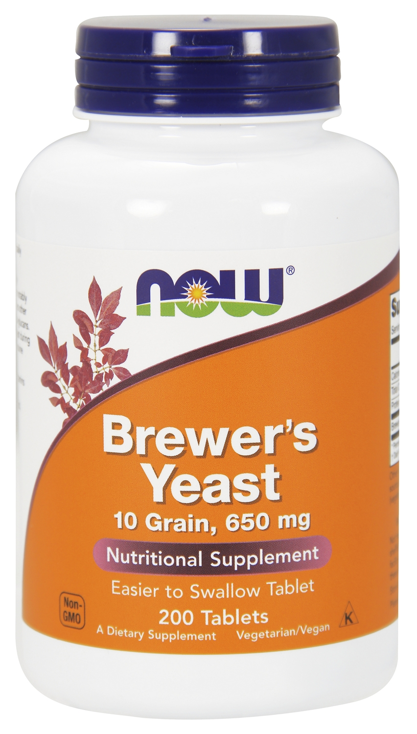 Brewer's Yeast 650 mg 200 tabs by NOW Foods