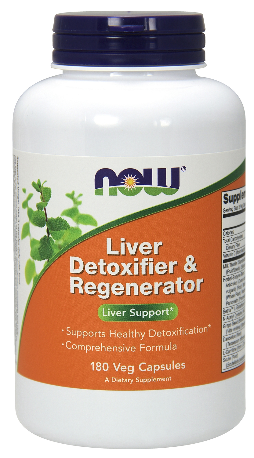 Liver Detoxifier & Regenerator 180 caps by NOW
