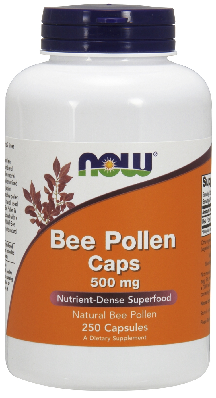 Bee Pollen 500 mg 250 caps by NOW