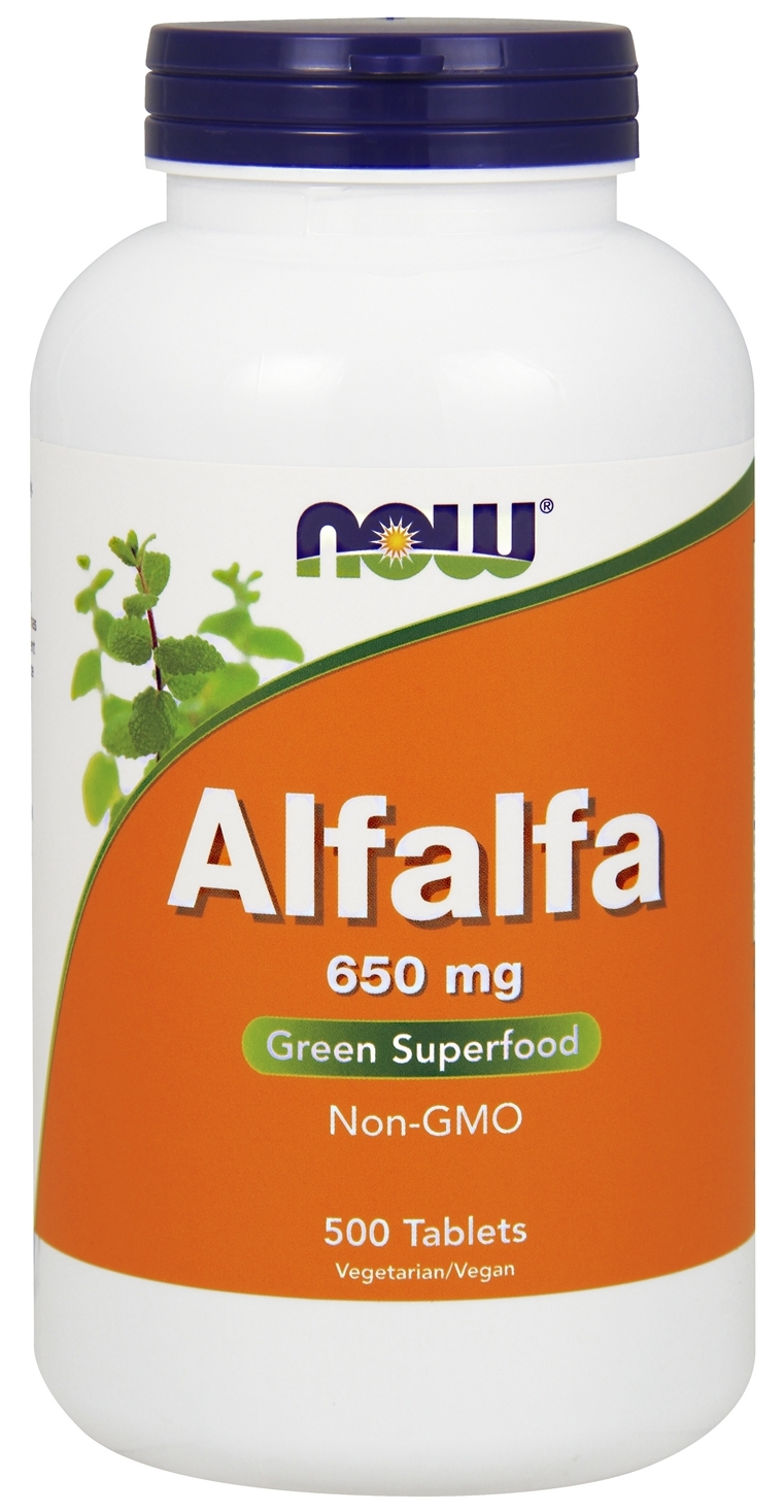 Alfalfa 10 grain 650 mg 500 tabs by NOW