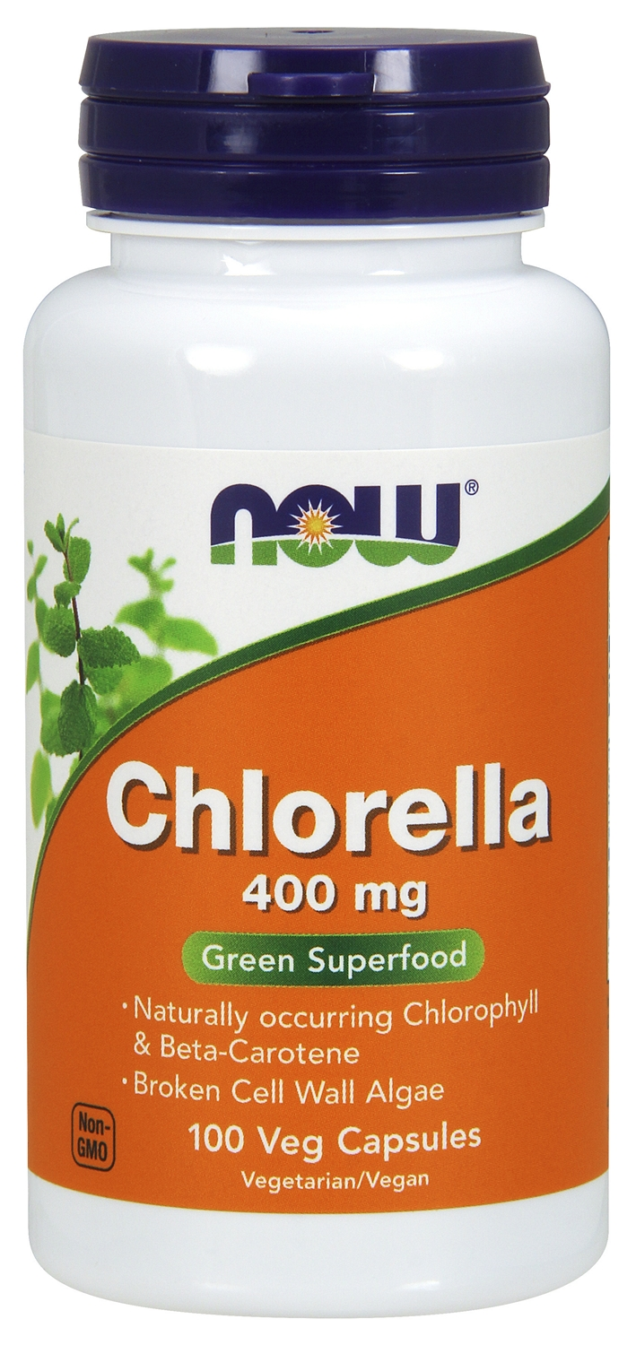 Chlorella 400 mg 100 Vcaps by NOW