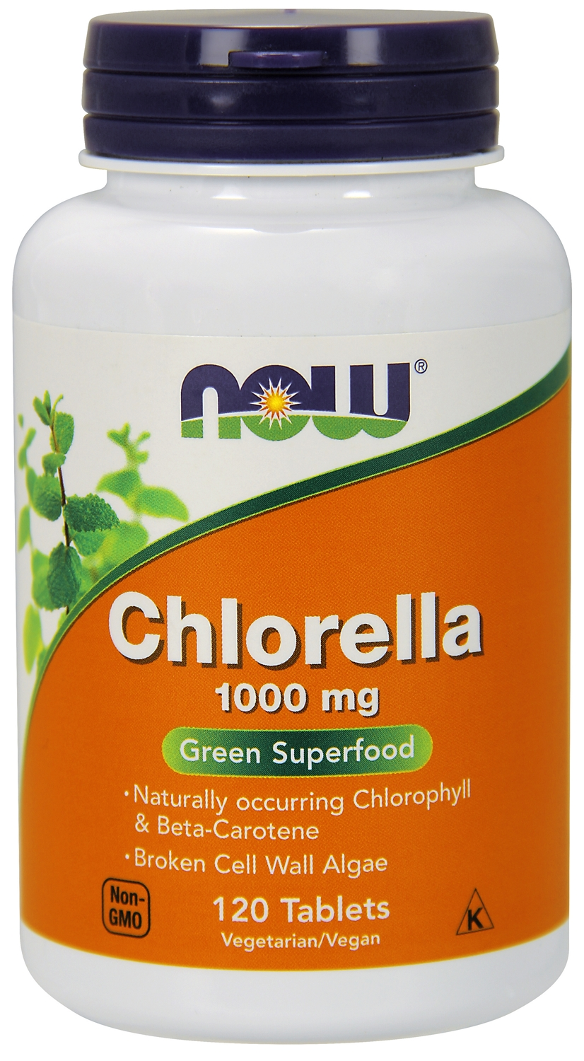 Chlorella 1000 mg 120 tabs by NOW