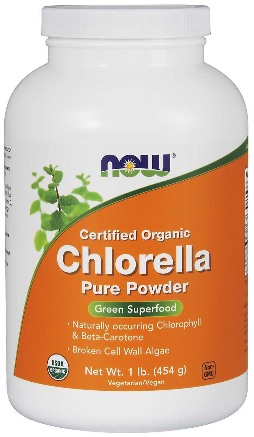 Chlorella 100% Pure Powder Certified Organic 1 lb (454 g) by NOW Foods