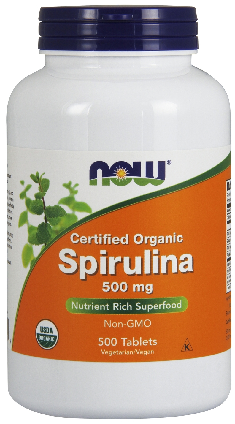 Spirulina 500 mg 500 tabs by NOW