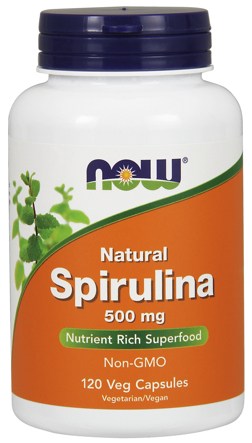 Spirulina 500 mg 120 Veg Caps by NOW