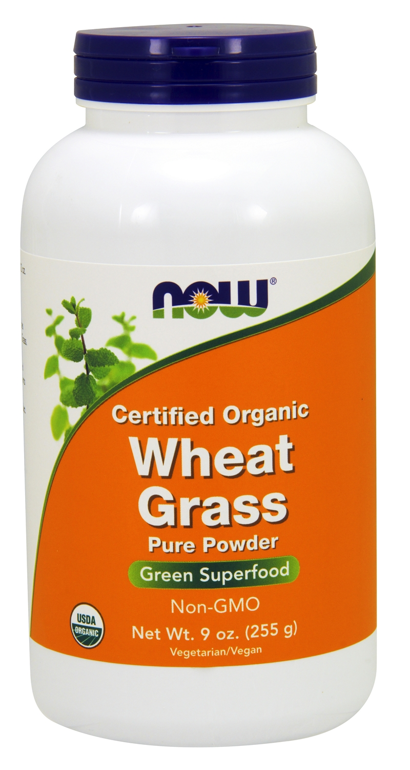 Wheat Grass Certified Organic 9 oz (255 g) by NOW