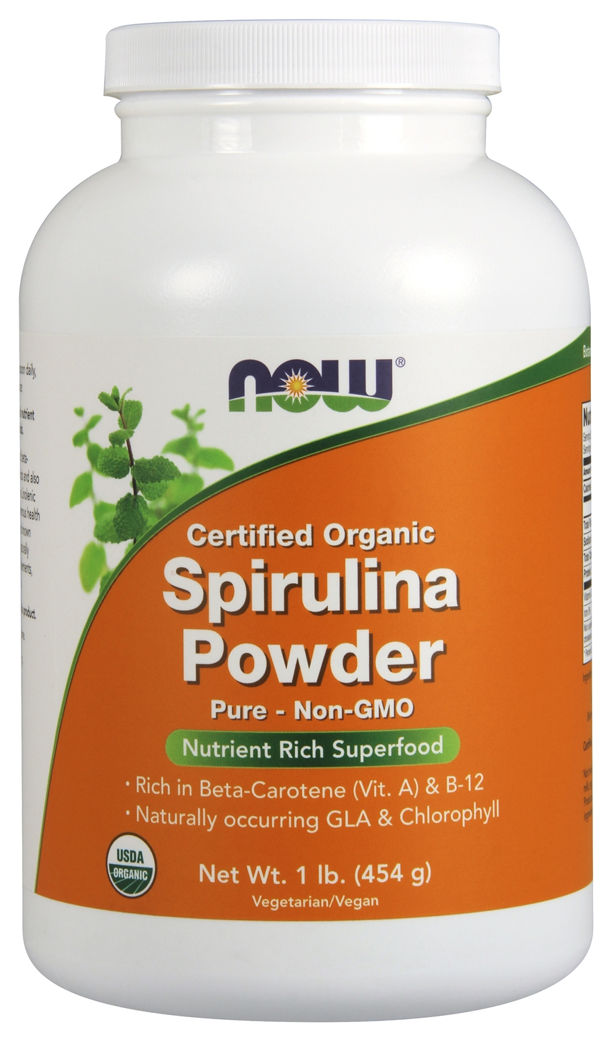 Spirulina Powder Certified Organic 1 lb (454 g) by NOW