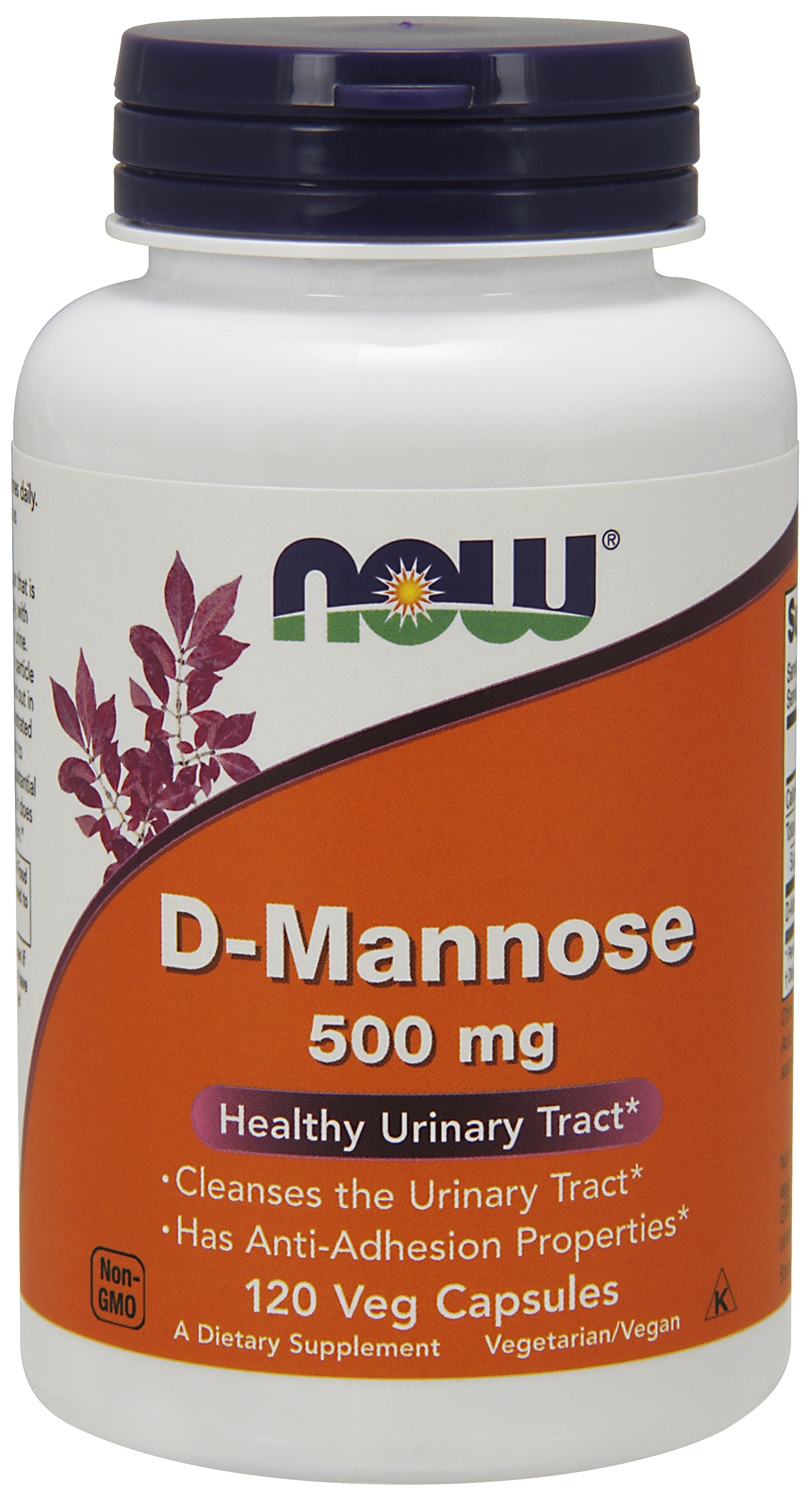 D-Mannose 500 mg 120 caps by NOW