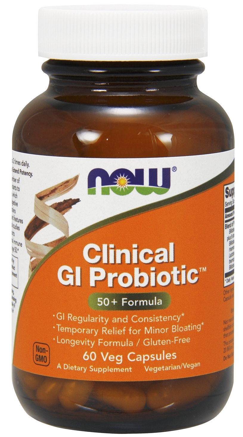 Clinical GI Probiotic 60 Veg caps by NOW