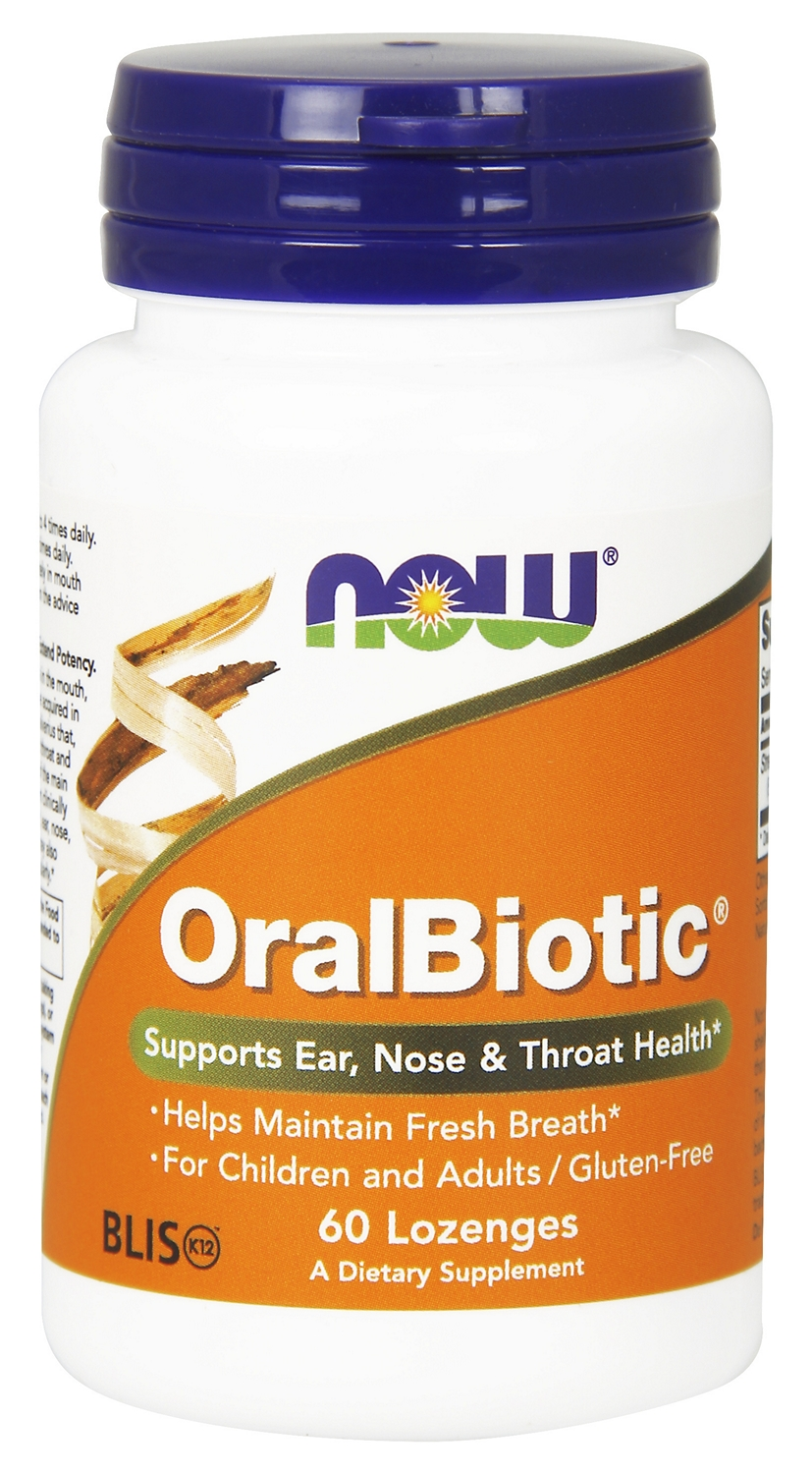 OralBiotic 60 Lozenges by NOW