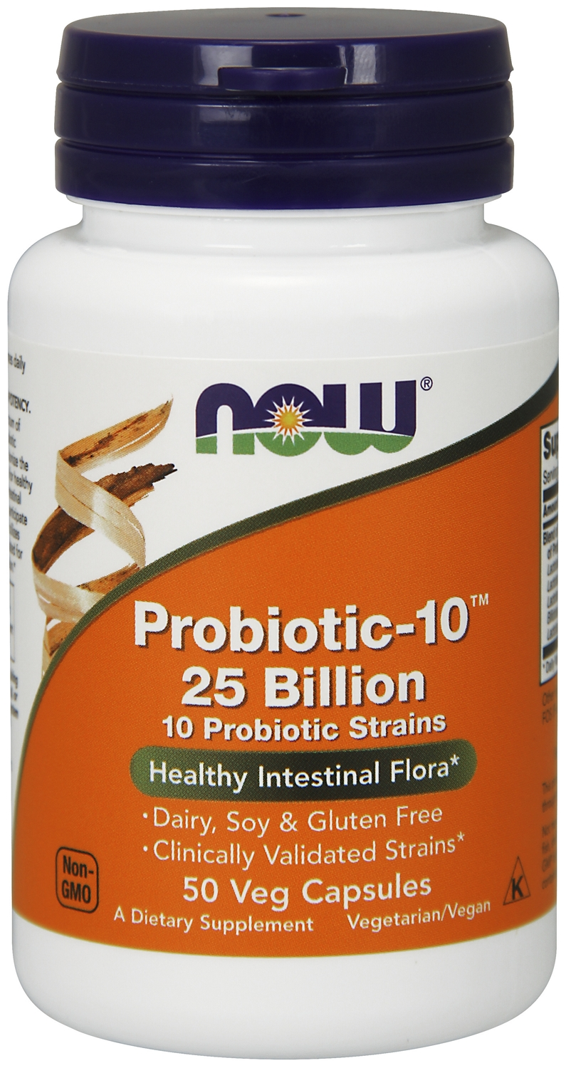 Probiotic-10 25 Billion 50 Vcaps by NOW