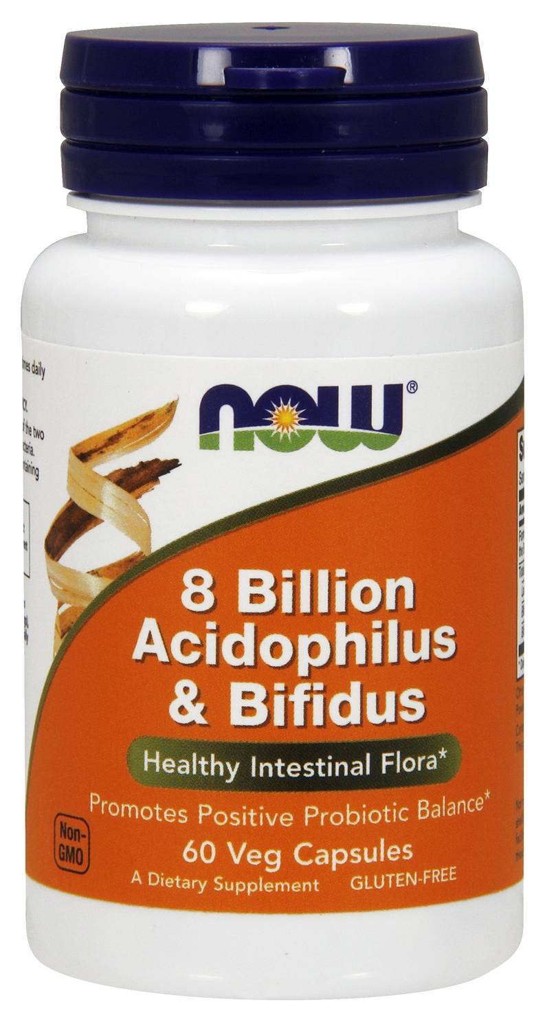 Acidophilus and Bifidus 8 Billion 60 Vcaps by NOW Foods