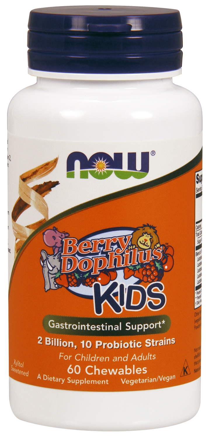 BerryDophilus 60 Chewables by NOW