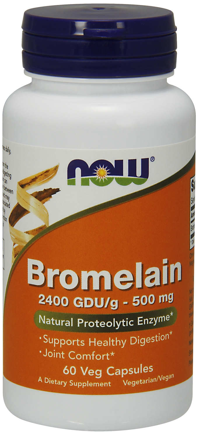 Bromelain 2400 GDU/g 500 mg 60 Vcaps by NOW