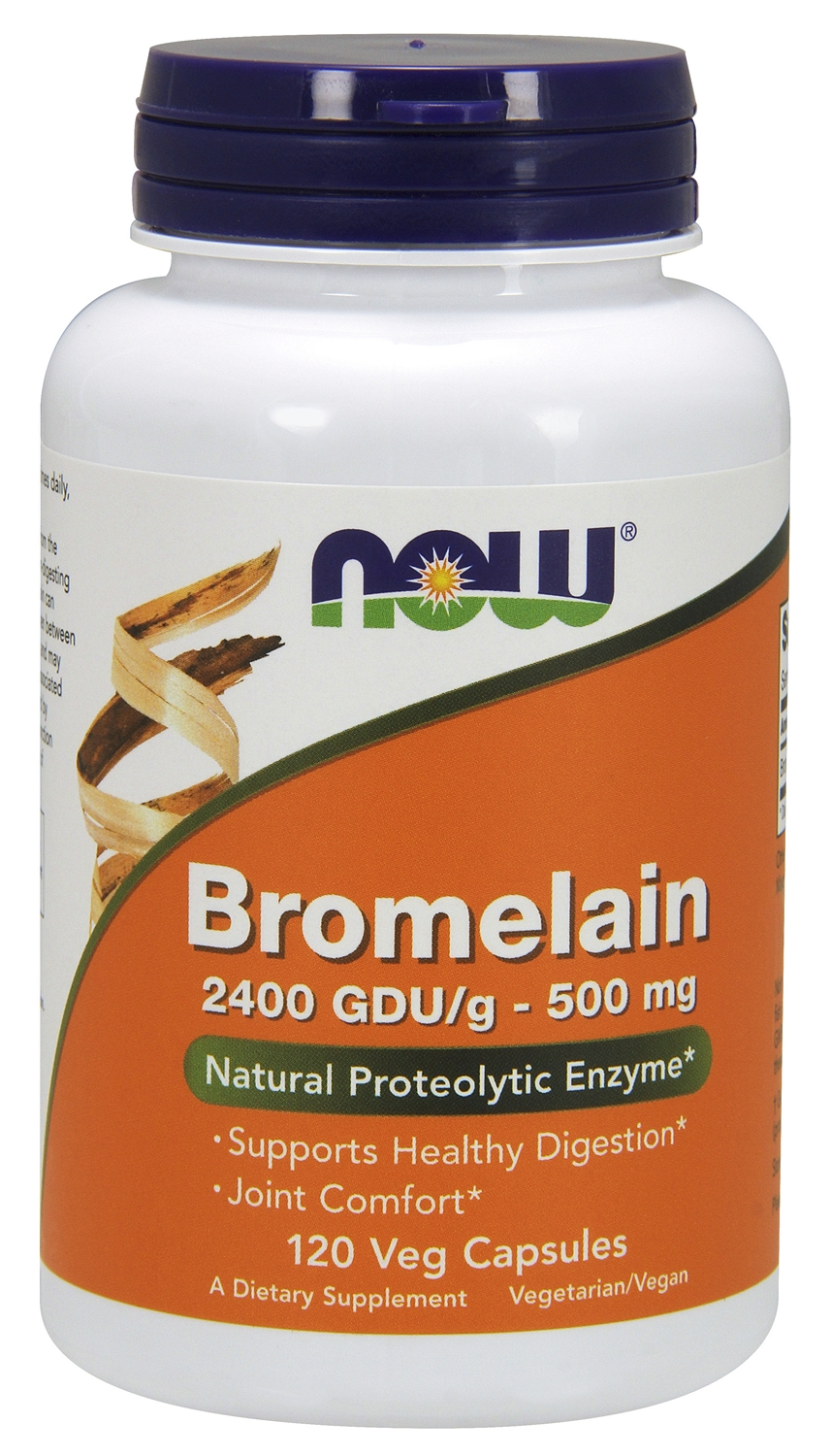 Bromelain 2400 GDU/g 500 mg 120 Veg caps by NOW Foods