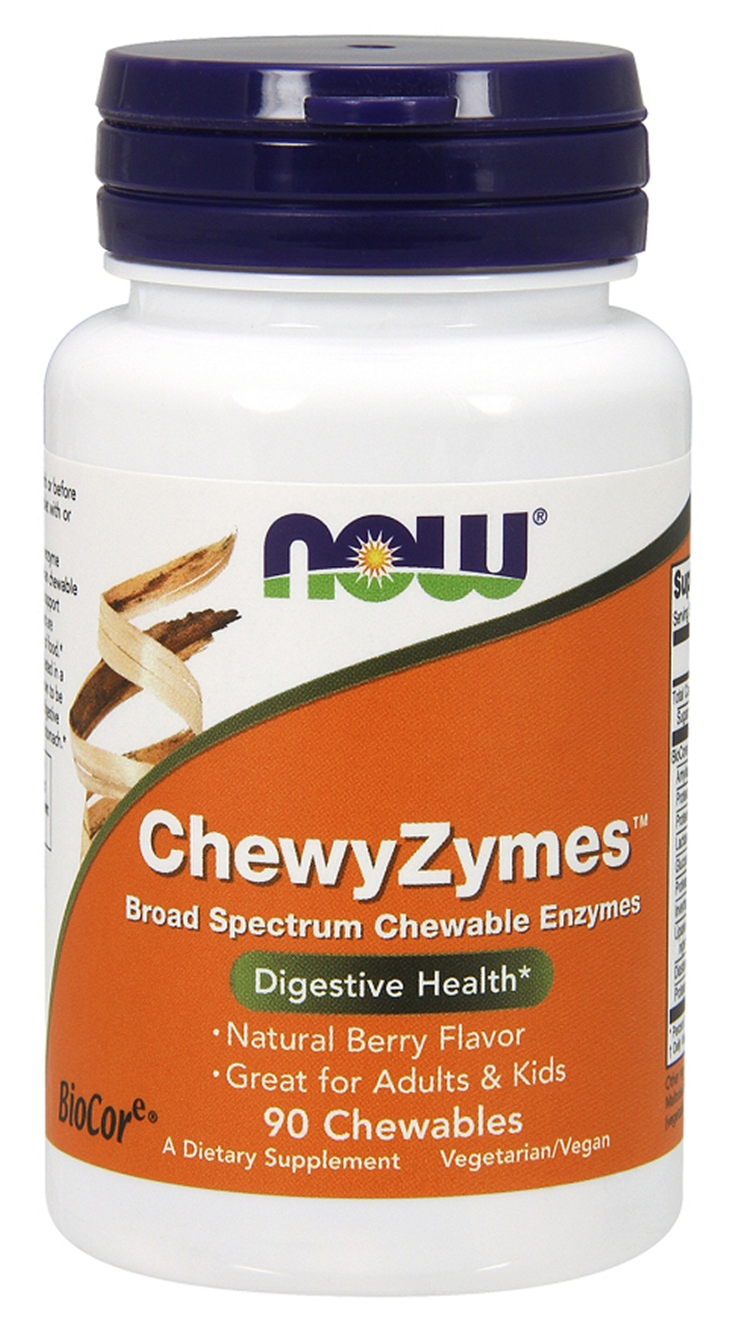 ChewyZymes 90 Chewables by NOW