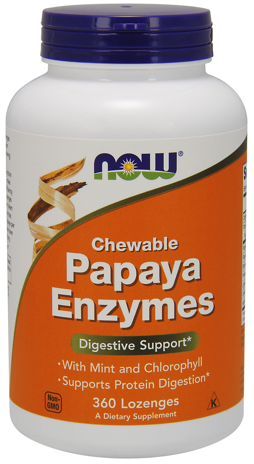 Papaya Enzymes Chewable 360 Lozenges by NOW