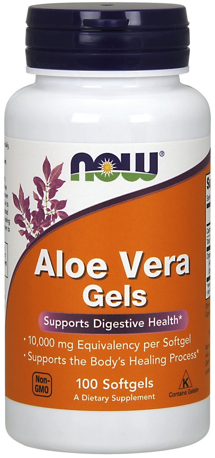 Aloe Vera Gels 5000 mg 100 sgels by NOW