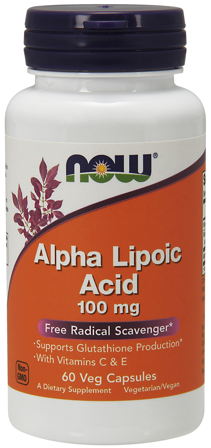 Alpha Lipoic Acid 100 mg 60 Vcaps by NOW Foods