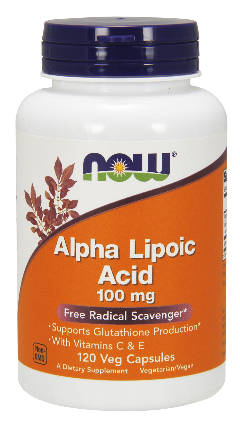 Alpha Lipoic Acid 100 mg 120 Vcaps by NOW