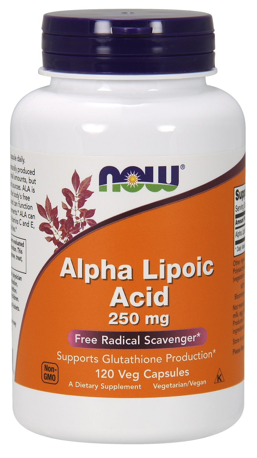 Alpha Lipoic Acid 250 mg 120 Vcaps by NOW
