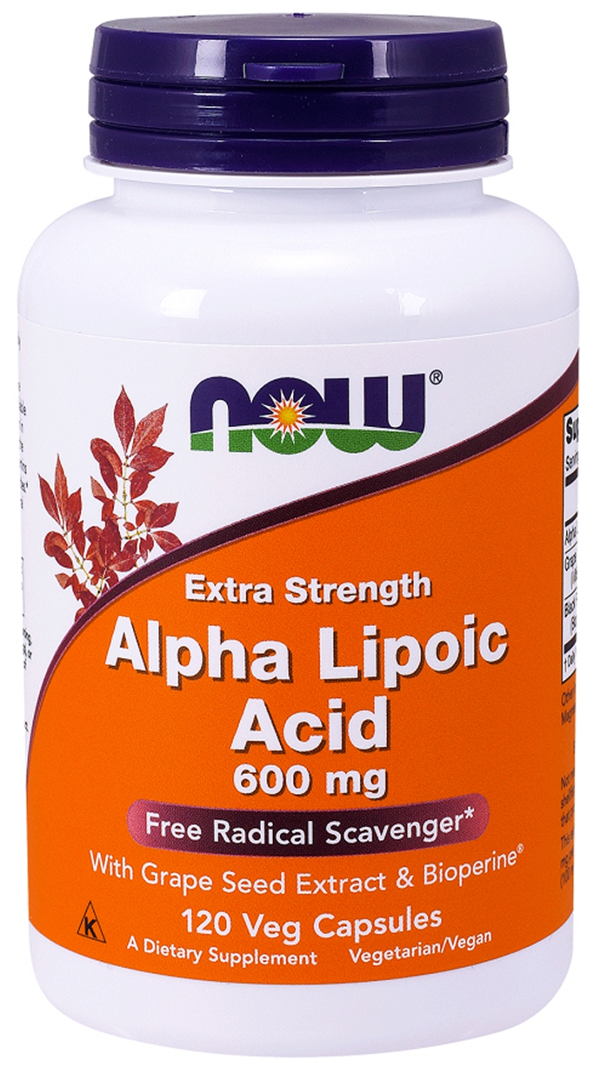 Alpha Lipoic Acid 600 mg 120 Vcaps by NOW