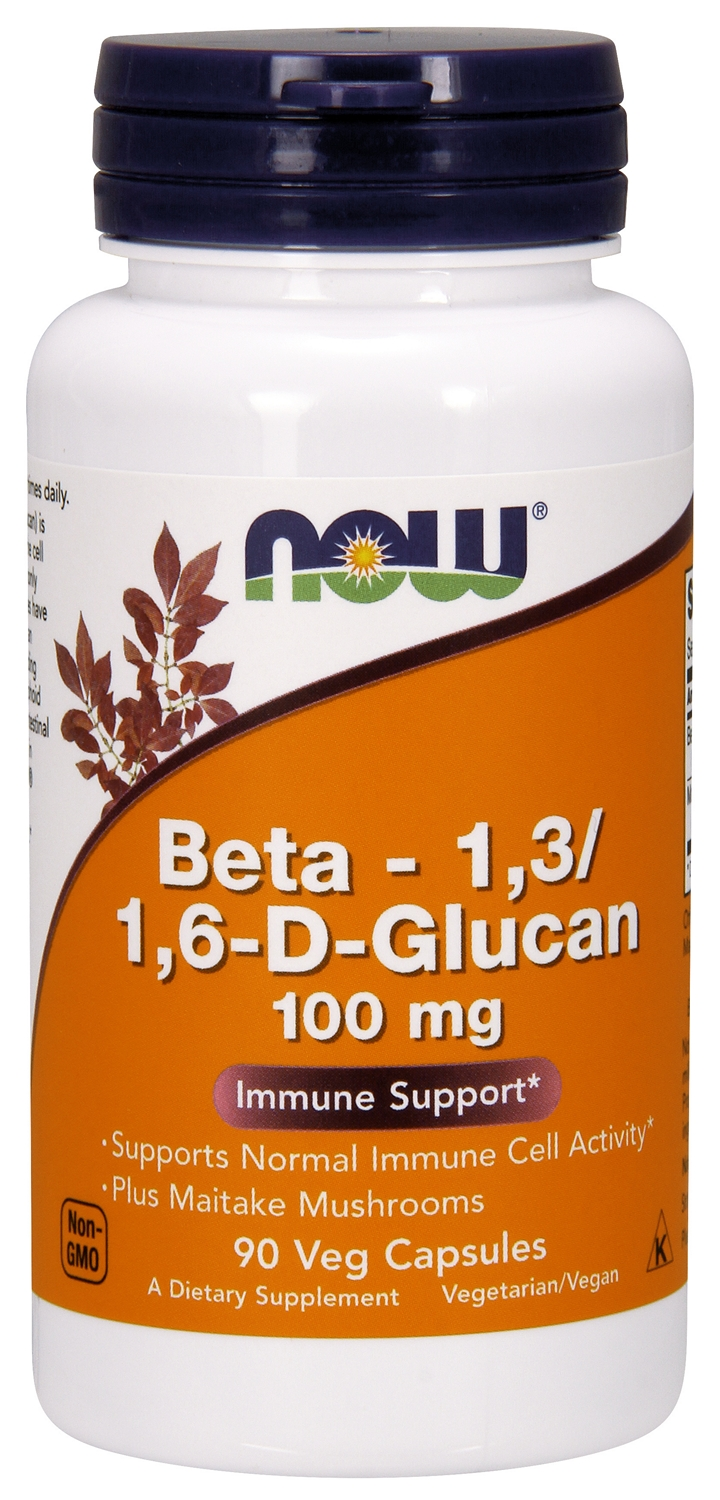 Beta 1,3/1,6- D -Glucan 100 mg 90 Vcaps by NOW