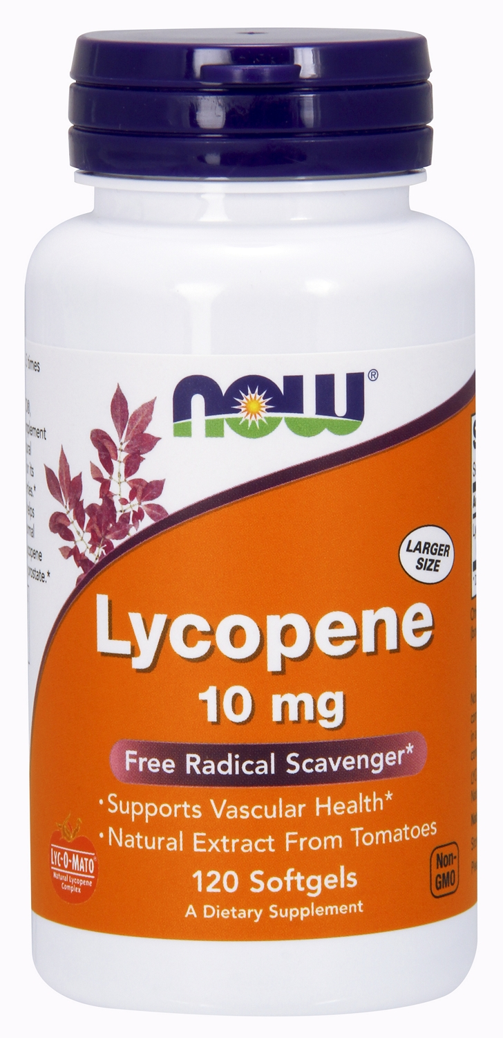 Lycopene 10 mg 120 sgels by NOW