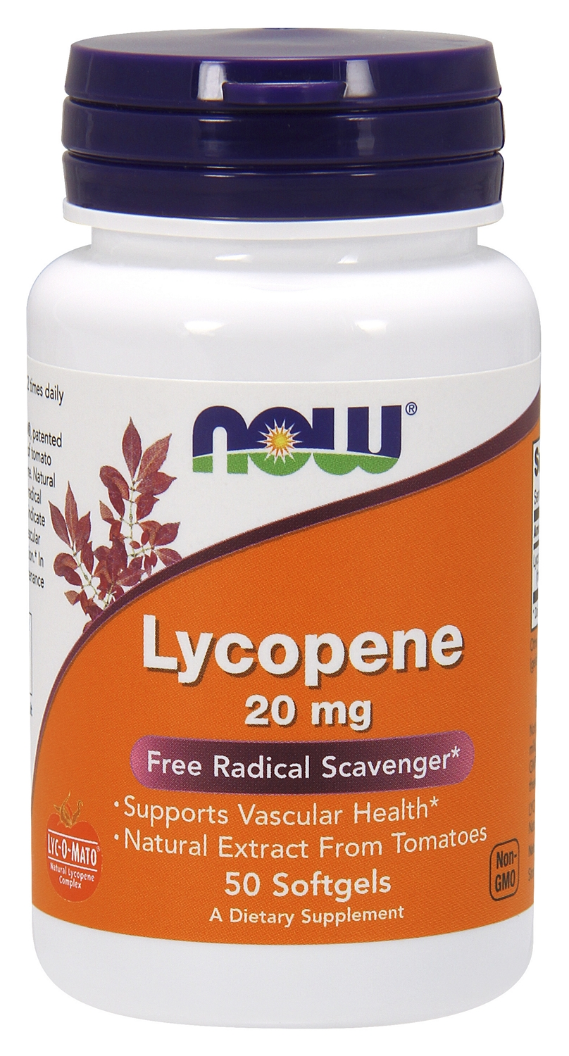 Lycopene 20 mg 50 sgels by NOW