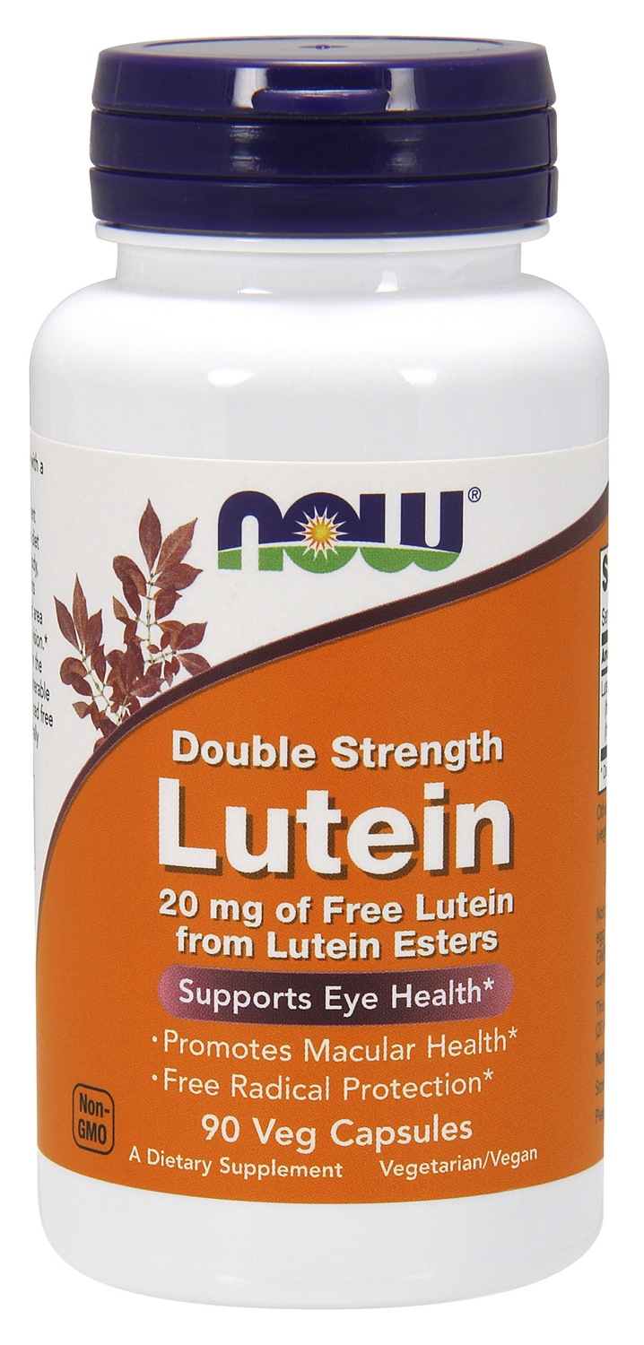 Lutein Double Strength 20 mg 90 Veg Caps by NOW