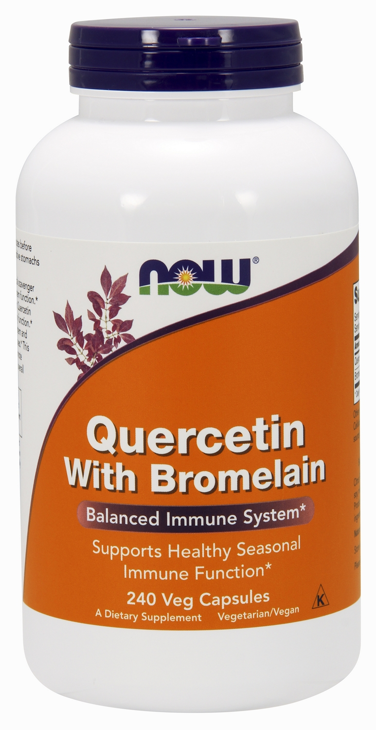 Quercetin with Bromelain 240 Vcaps by NOW