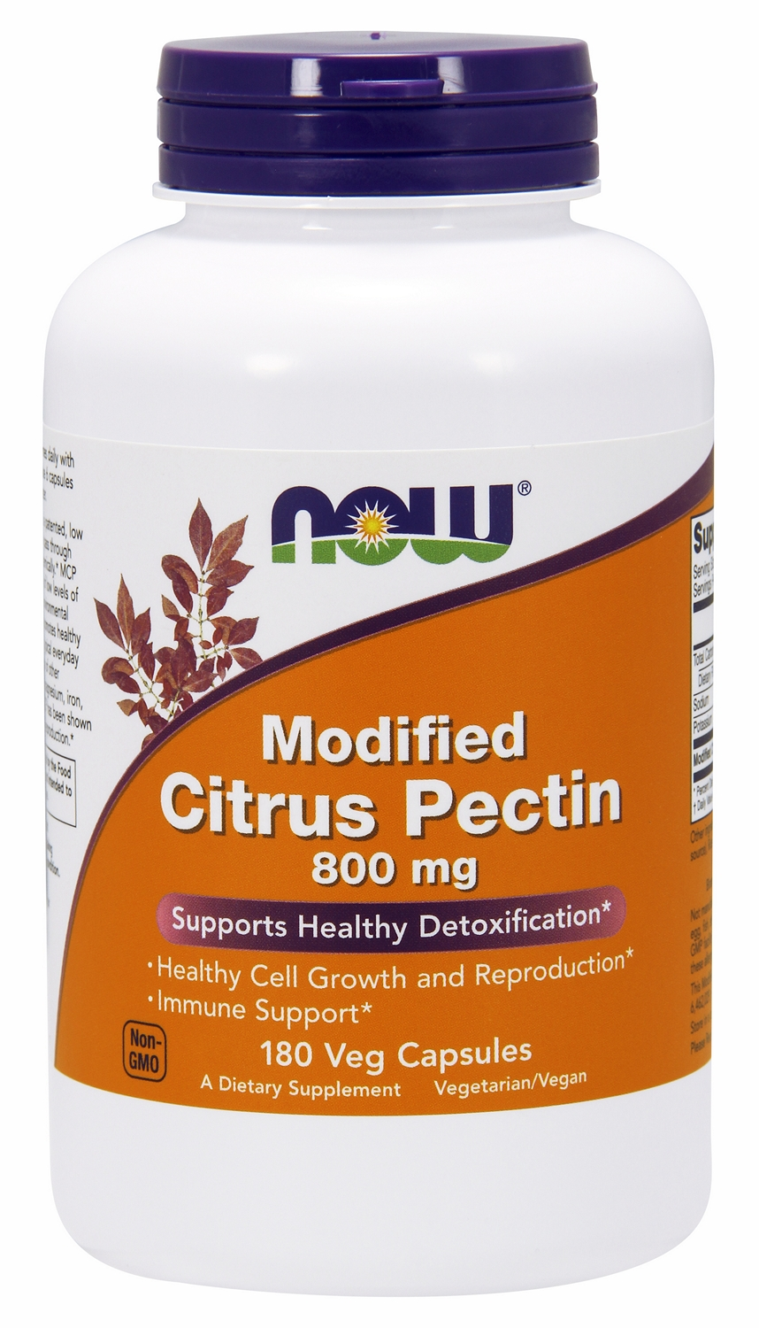 Modified Citrus Pectin 800 mg 180 Vcaps by NOW