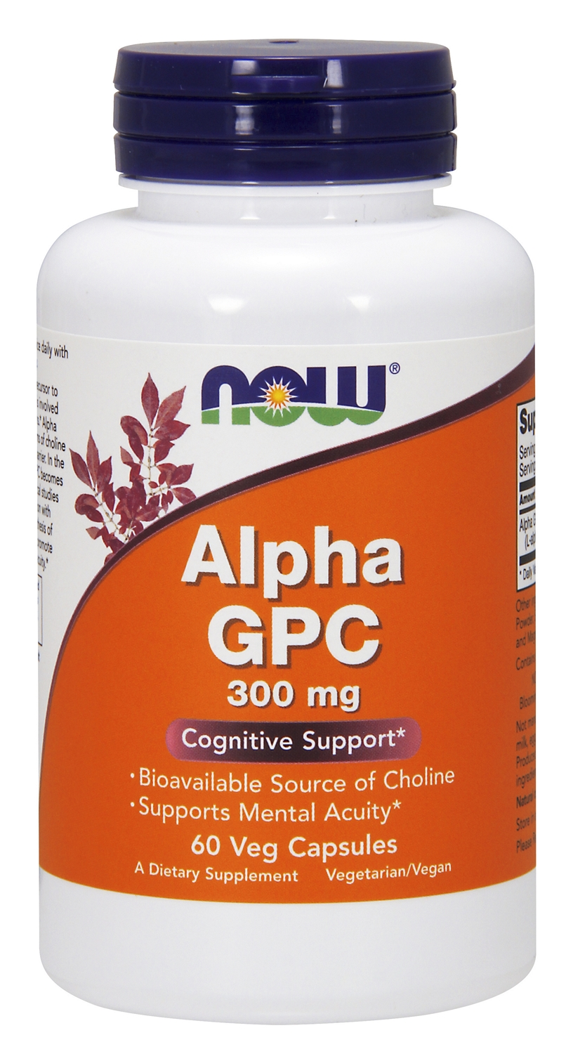 Alpha GPC 300 mg 60 Vcaps by NOW